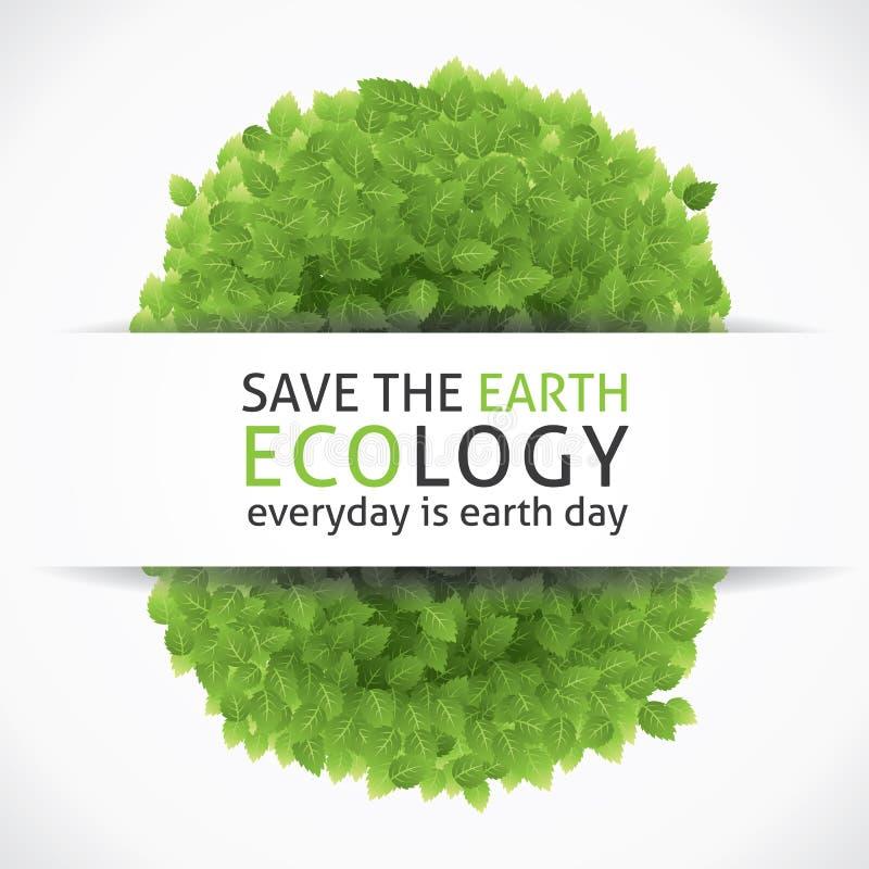 Sparen Onze Aarde vector illustratie