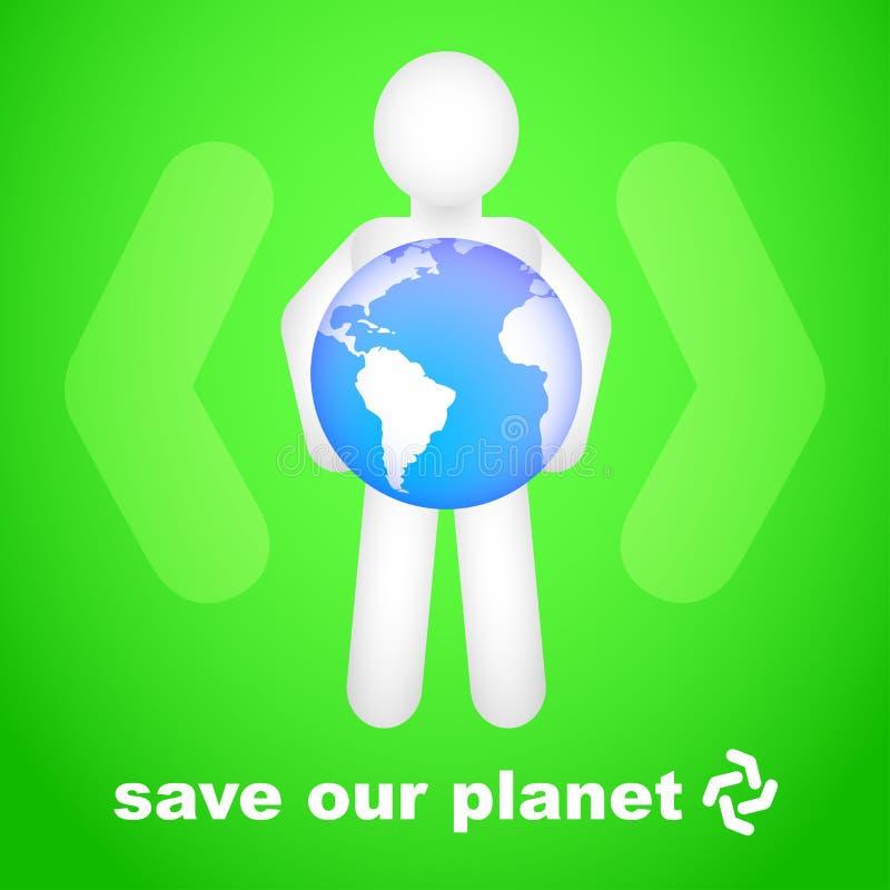 Sparen Onze Planeet vector illustratie
