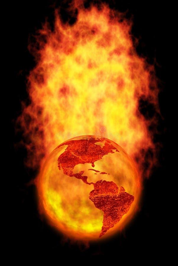 Sparen onze wereld stock illustratie
