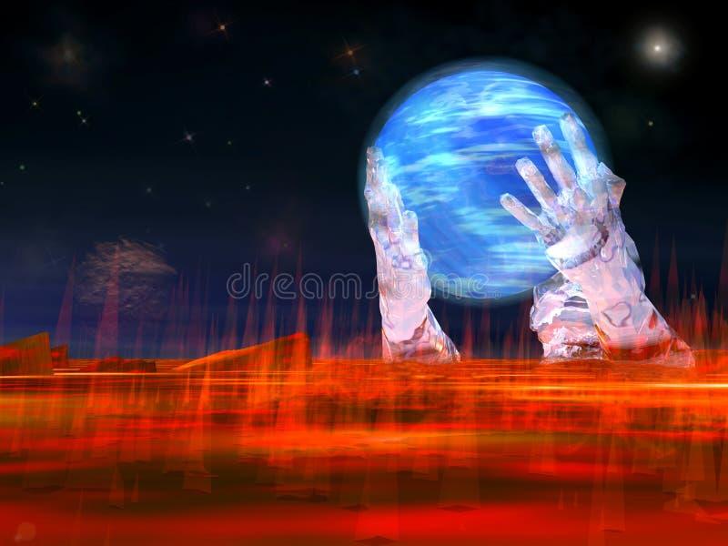 Sparen planeet vector illustratie