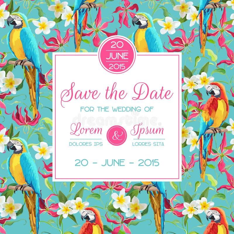 Sparen Sie das Datum, Einladung, Glückwunsch-Karte - für die Heirat, Babyparty lizenzfreie abbildung