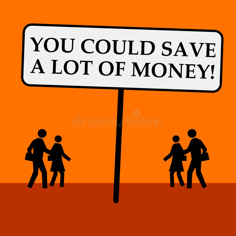 Sparen Sie Geld stock abbildung