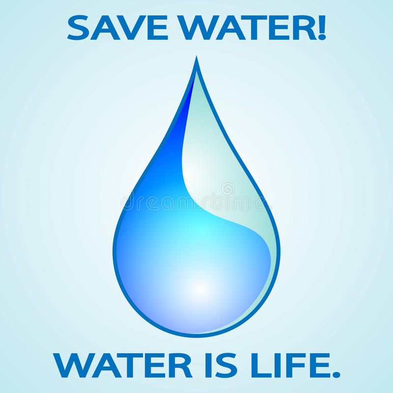 Sparen Sie Wasser vektor abbildung