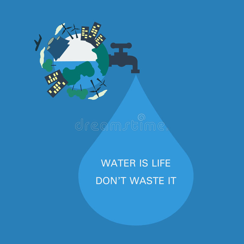 Sparen water royalty-vrije illustratie