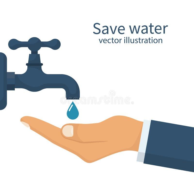 Sparen waterconcept vector illustratie