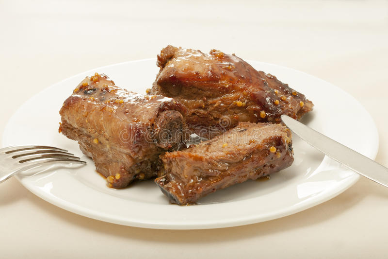 Download Spareribs Cooked In Mustard And Honey Sauce Stock Image - Image: 29009717