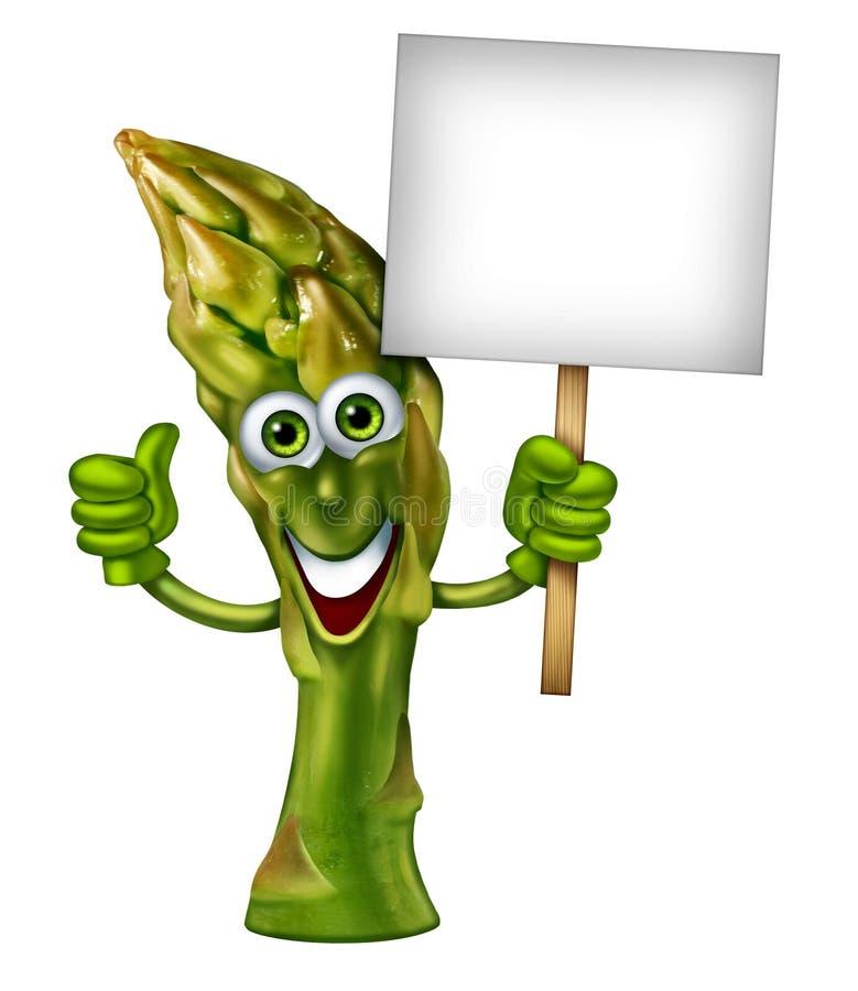 Green Gem Asparagus: Spargel-Charakter Stock Abbildung
