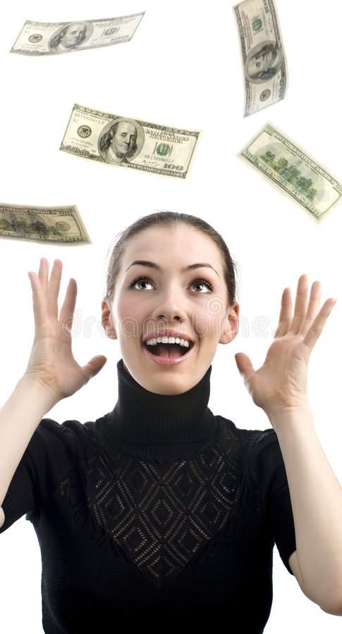 Spargendo con i soldi immagini stock