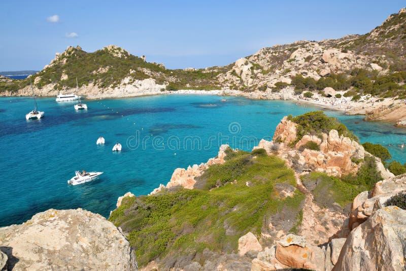 Spargi, eiland van de archipel van La Maddalena in noordoostelijk Sardinige, Sassari stock fotografie