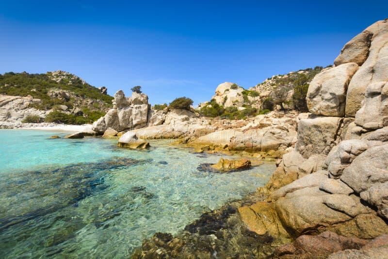 Spargieiland, Archipel van Maddalena, Sardinige royalty-vrije stock foto