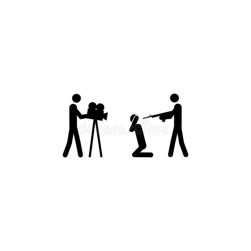 spari un'icona di pena Elemento dell'illustrazione degli elementi del terrorismo Icona premio di progettazione grafica di qualità royalty illustrazione gratis