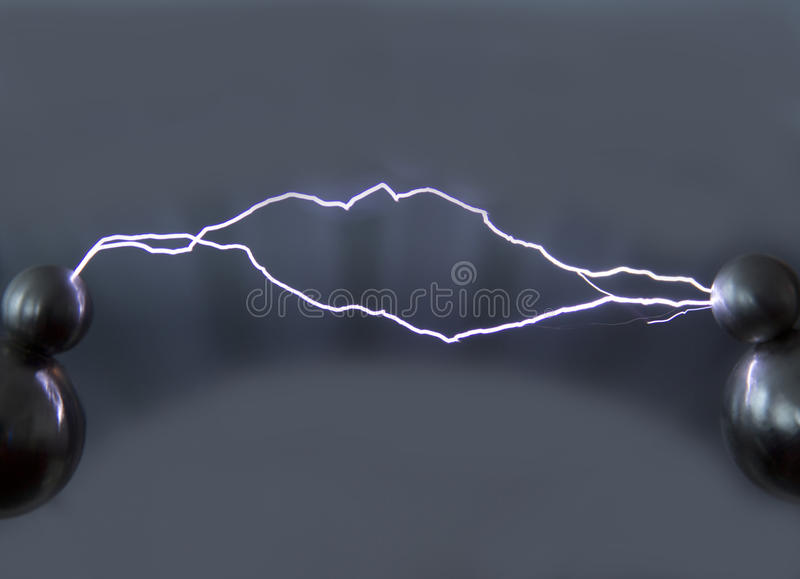 Spark discharge stock image