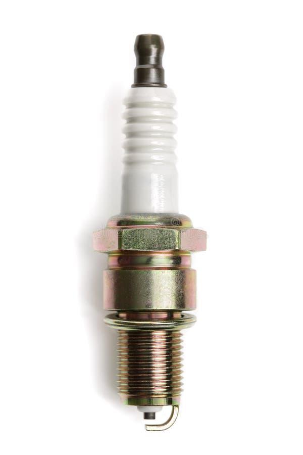 Spark plug. Single new spark plug isolated on white background stock photos