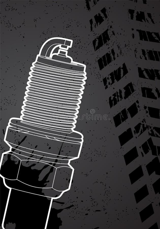 Spark-plug stock illustration