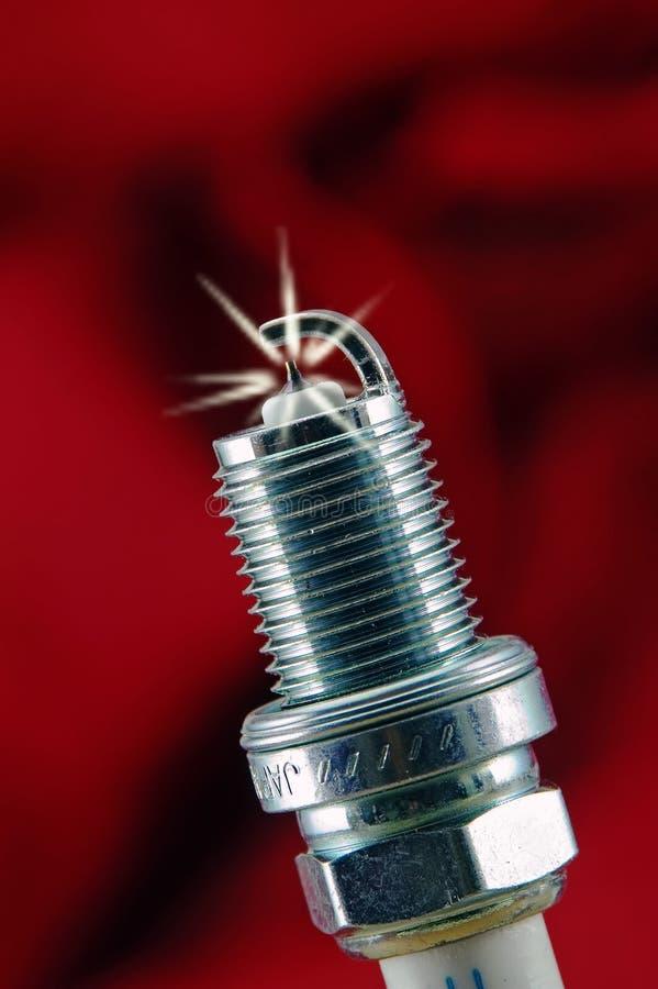 Spark Plug Igniting royalty free stock photos