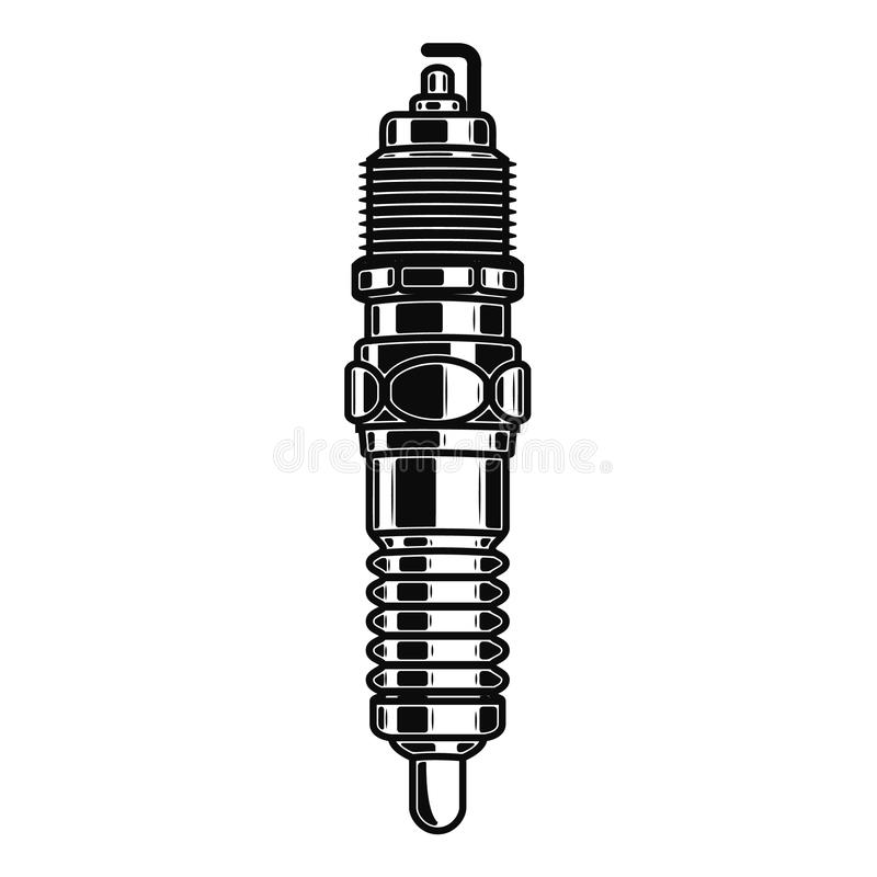 Spark plug illustration isolated on white background. stock illustration