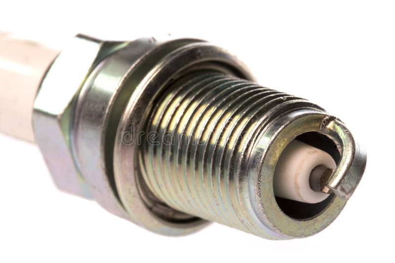 Spark Plug Isolated. Isolated image of a spark plug royalty free stock photo