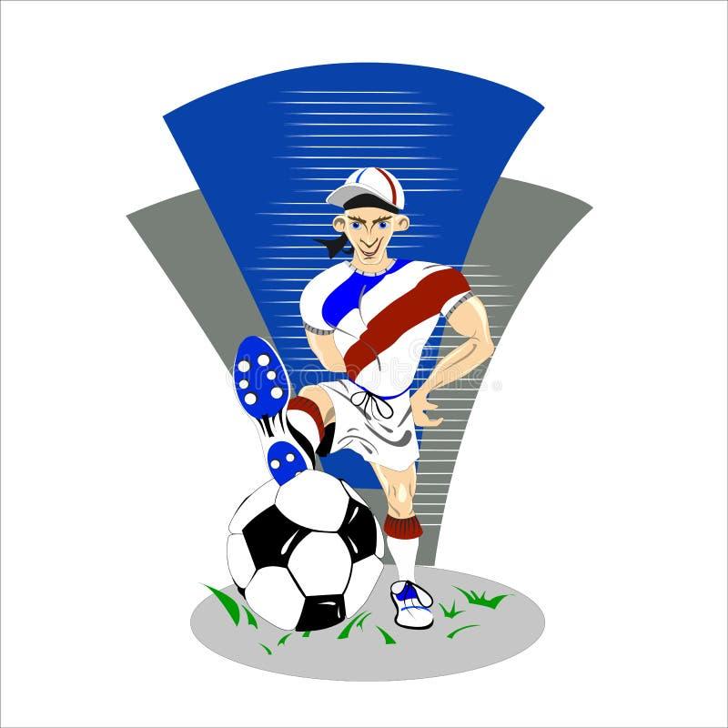 Sparka för fotbollsspelare arkivbild