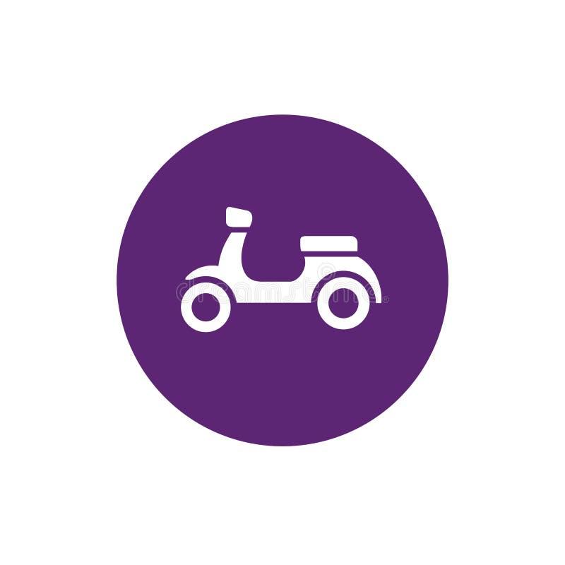 Sparkcykelcykel, motorcykel och lilacirkelShape symbol, vektorillustrationdesign royaltyfri illustrationer