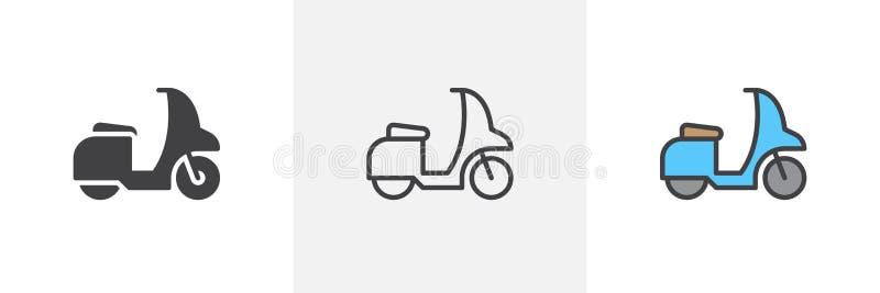 Sparkcykelcykelsymbol royaltyfri illustrationer