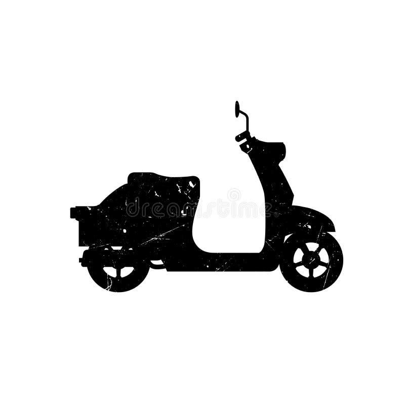 Sparkcykelkontur royaltyfri illustrationer