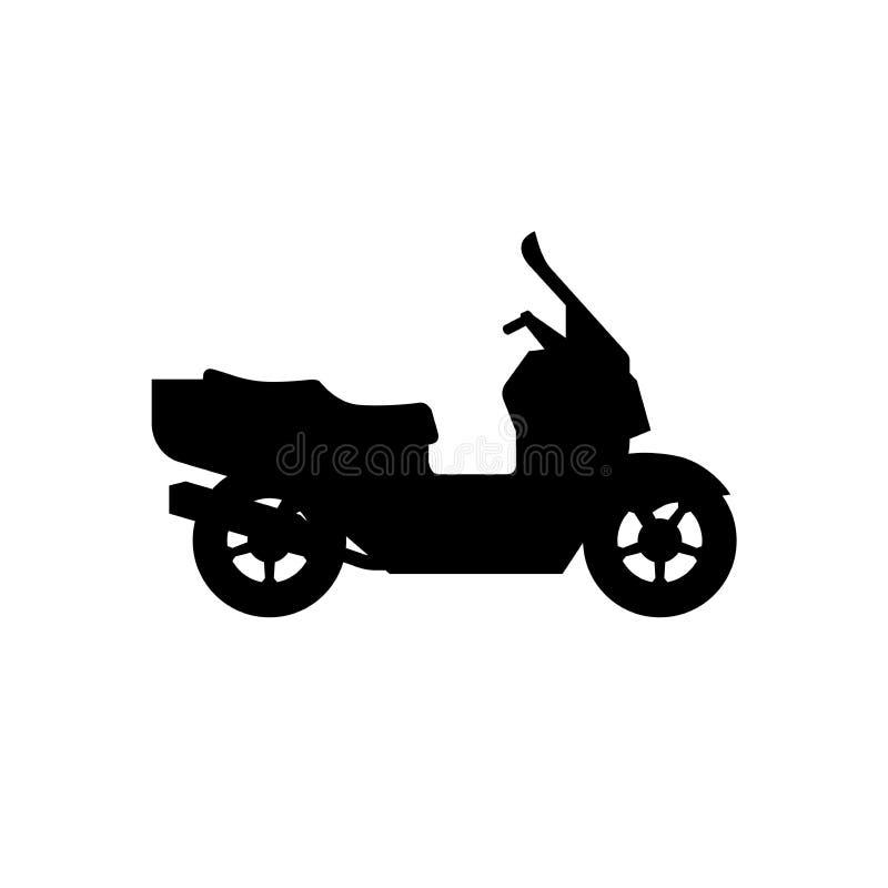 Sparkcykelkontur stock illustrationer