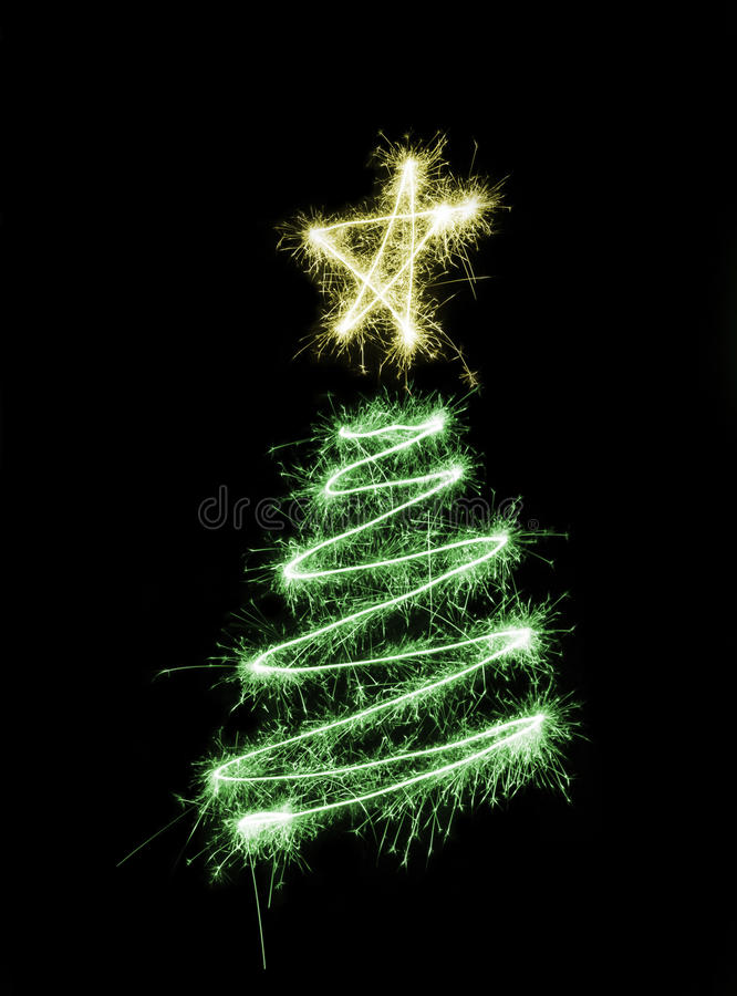 Sparking Chrismas Tree stock images