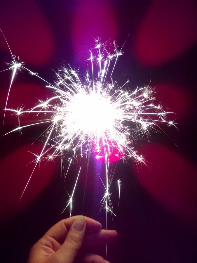 Sparking sparkler stock photo