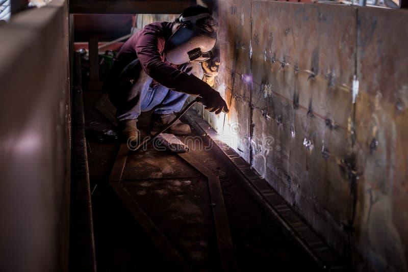 Sparking of welding stock photos