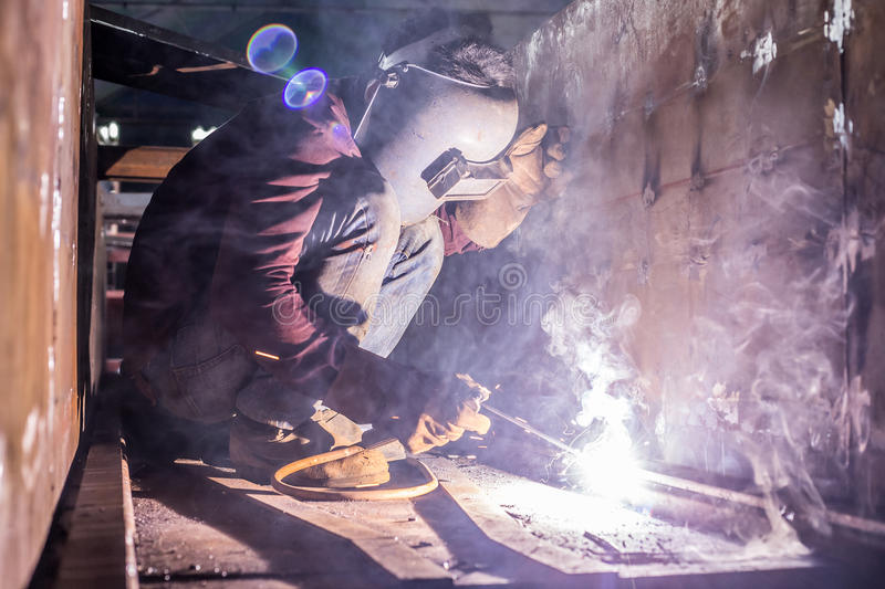 Sparking of welding royalty free stock photo