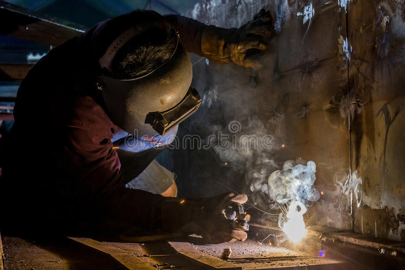 Sparking of welding stock images