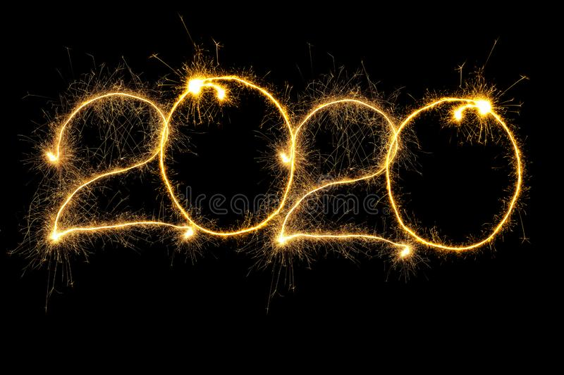 Sparking 2020 Year stock photography