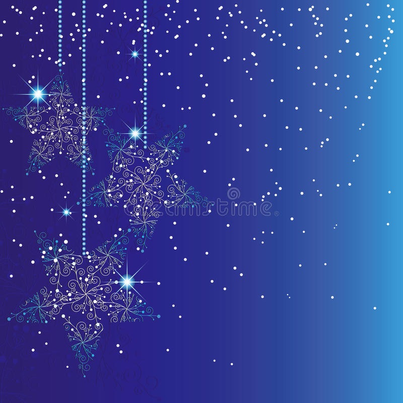 sparkle рождества абстрактной предпосылки голубой иллюстрация вектора