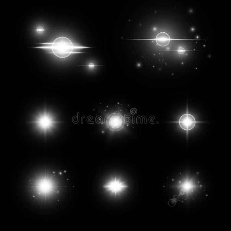 Sparkle background dark stock images