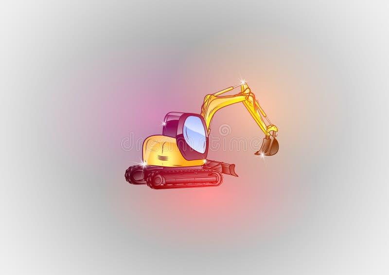 Sparkle excavator stock illustration