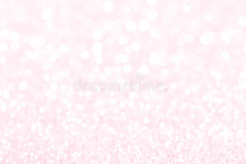 Sparkle glitter blur light bokeh background for valentines day and special romantic sweet events.  stock photo