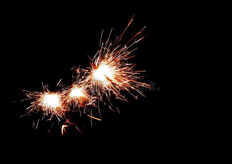 Sparkler για τα προγράμματα αποθεμάτων στοκ φωτογραφία με δικαίωμα ελεύθερης χρήσης