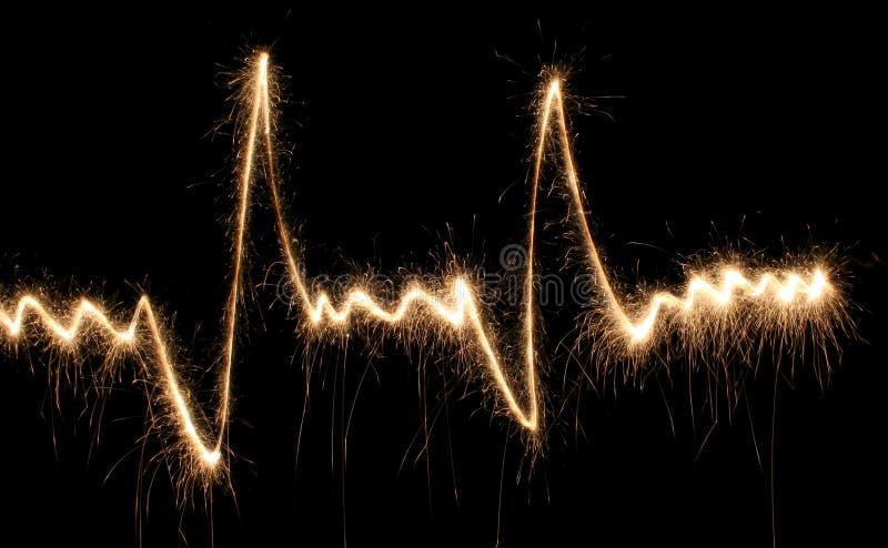 sparkler сердца удара стоковая фотография rf