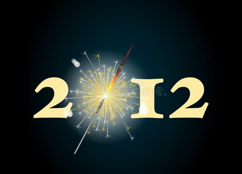 sparkler 2012 illustration stock