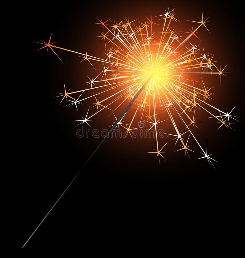 Download Sparkler stock vector. Image of image, burning, broil - 21519703