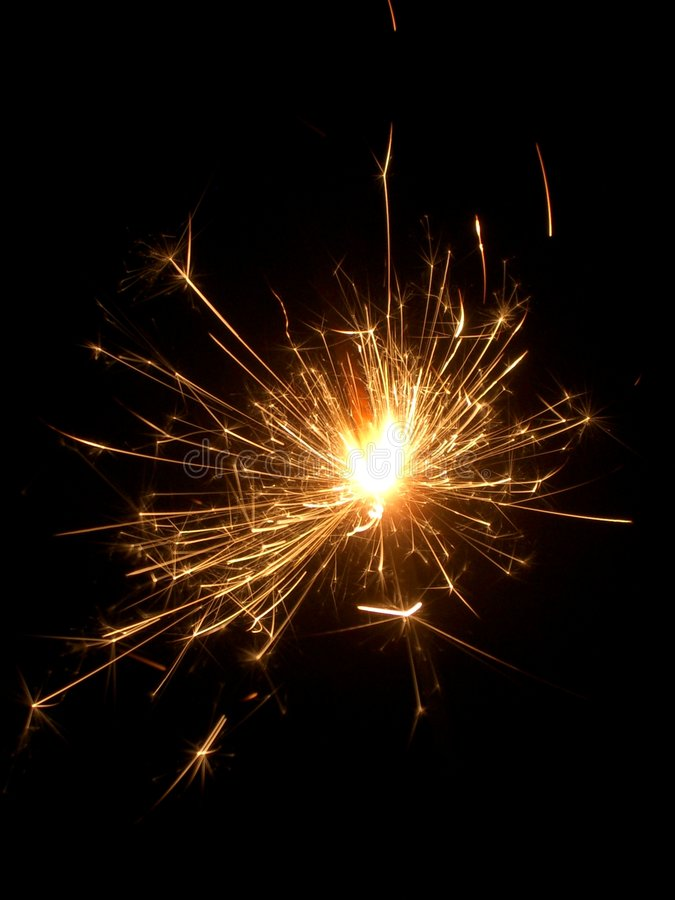 sparkler zdjęcie stock