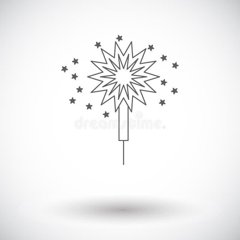 sparkler stock de ilustración