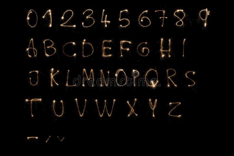 Sparkler alphabet royalty free illustration