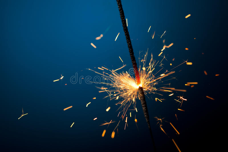 Sparkler ardente fotos de stock