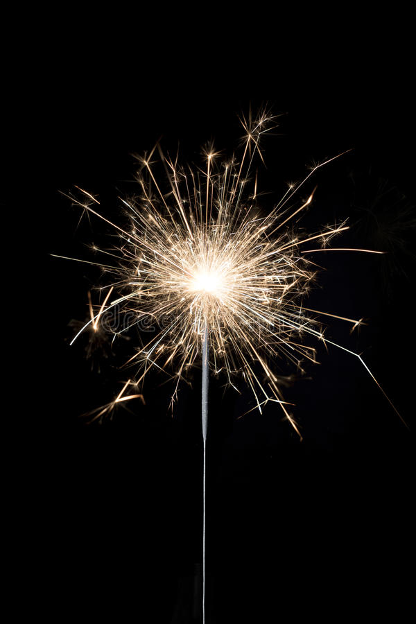 Sparkler ardente fotos de stock royalty free