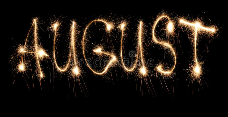 Sparkler augusto del mes imágenes de archivo libres de regalías