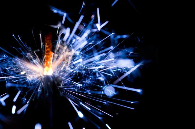 Sparkler azul ilustración del vector