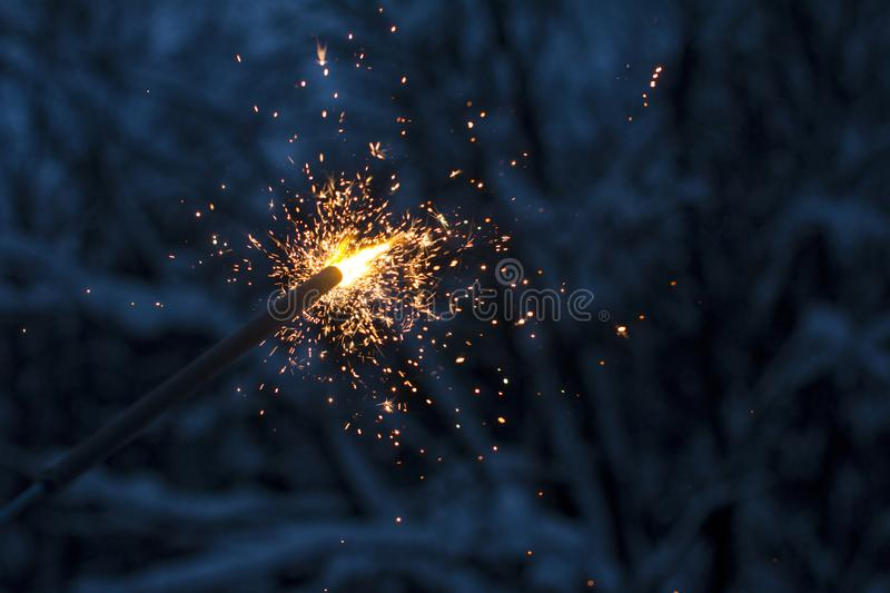 Sparkler. Beautiful fireworks. March 8 and international women`s day. royalty free stock photos