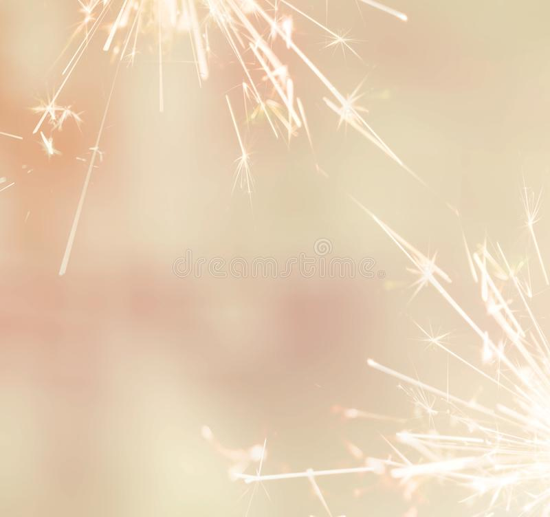Sparkler blurred background. soft tone. royalty free stock photography
