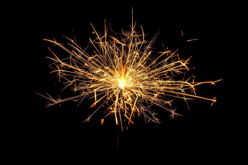 Sparkler brûlant de Noël photos libres de droits
